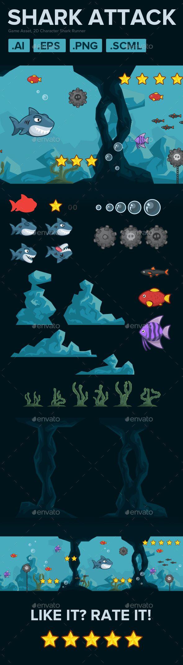 2D Character Shark Runner Download here: https://graphicriver.net/item/2d-character-shark-runner/19484306?ref=KlitVogli
