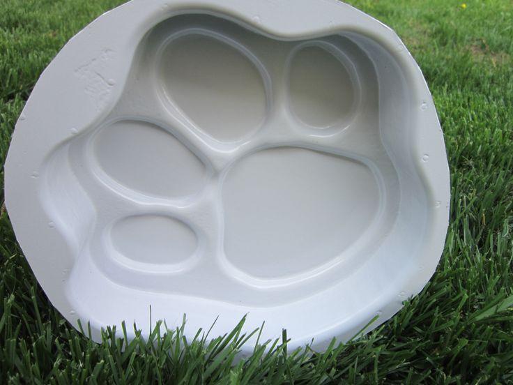 O6o Hips Dog Paw Mold For Casting Concrete Pets