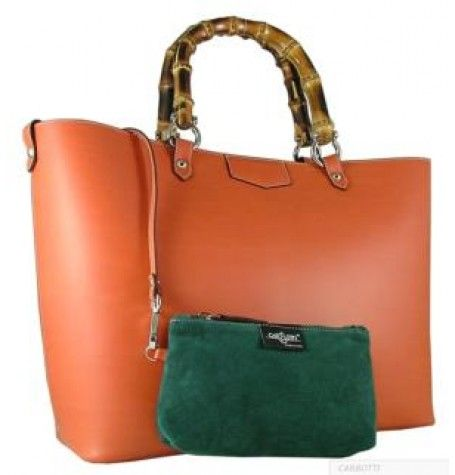 Tote Bags : Leather Handbag By Carbotti