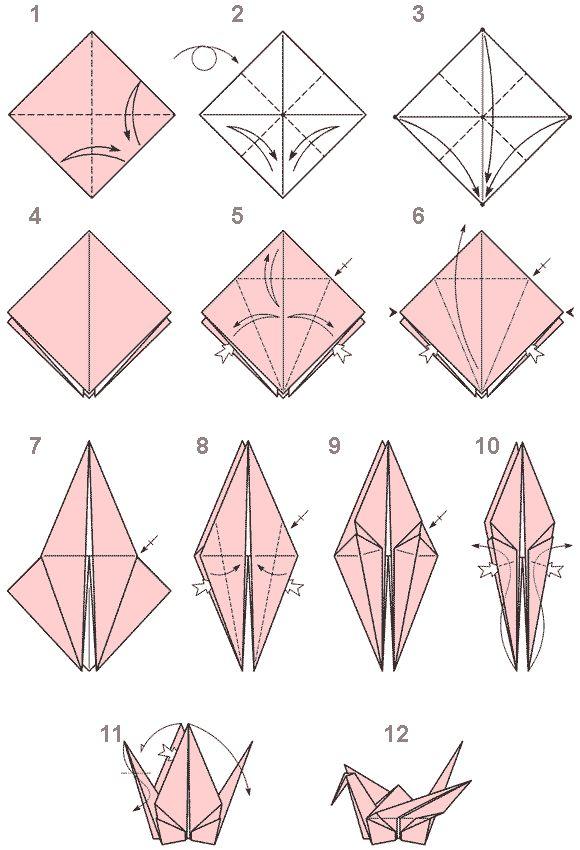 Фото оригами схемы птиц
