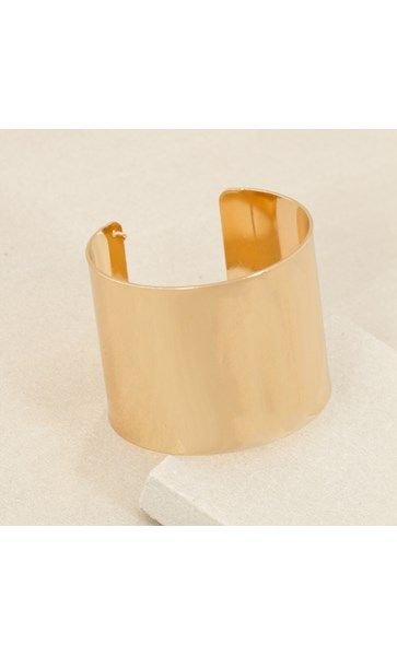 Curved Metal Open End Cuff