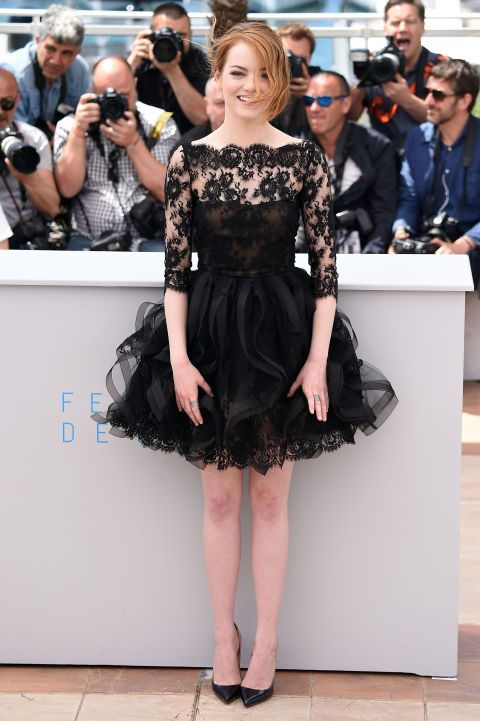 Emma Stone in Oscar de la Renta. See all the best looks from the 2015 Cannes Film Festival.