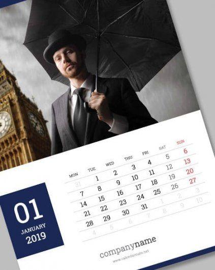 Pin by Calendar Mate on Wall Calendar Design 2019 Calendar design