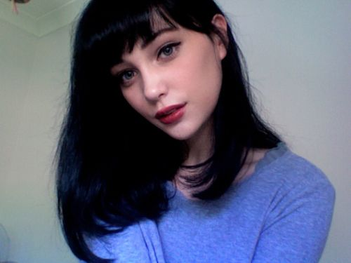 Fantastic 1000 Ideas About Dark Hair Bangs On Pinterest Mila Kunis Hair Hairstyle Inspiration Daily Dogsangcom