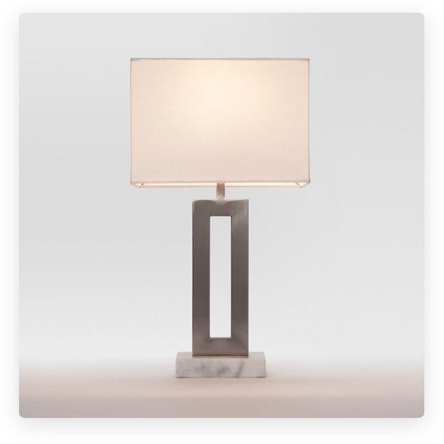 Target Lamp Base With White Rectangular Lamp Shade Lamp Nickel