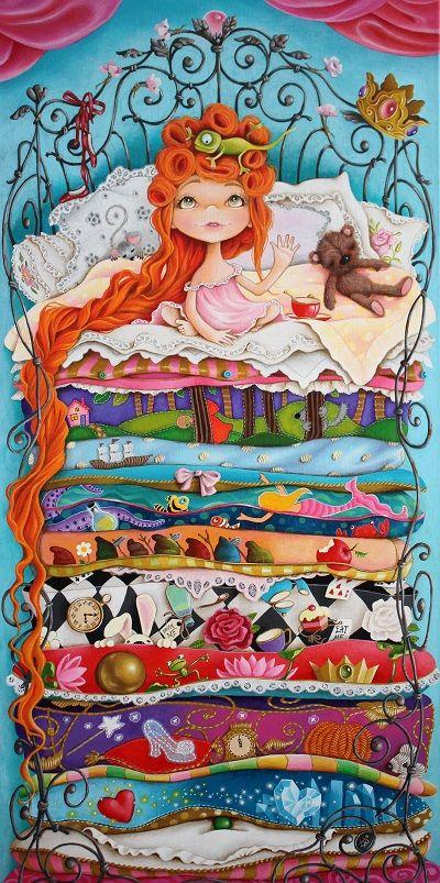 10 Fairy Tales by Rita Vjodorowa acrylic on linnen 40x80 cm  http://kunstvanrita.nl/