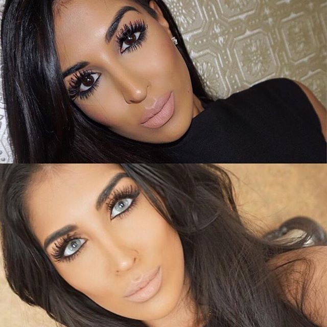 BEFORE/AFTER with our one of our grey lenses ✨ Contact Lenses Colour: Hidrocor Cristal - in stock!  (Customer has dark brown eyes) • IG •@solotica_official • All lens last up to 12 months • Website: www.lensrepublica.com • FREE SHIPPING CODE: IGFAMILY • 1 business day delivery within Aus  3-10 business days delivery within USA, Canada, UK, Netherlands, Asia and most parts of Europe Beauty is @farahdhukai