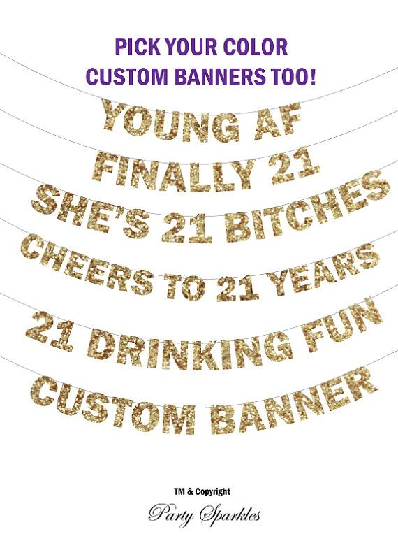 21st birthday Banner - She's 21 Bitches Banner , Finally 21 Banner, Birthday Banner Glitter Banner