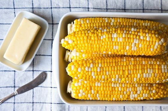 Easy corn: Boiled Corn, Finish Corn, Side Dishes, Cooking Corn, Vegetables Side, Honey Butter, Corn On Cob, Favorite Recipe, Sweet Corn