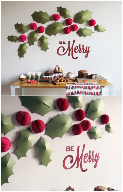 Christmas Wall Decoration Ideas For Office : Best christmas wall decorations ideas on