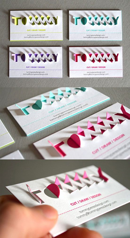 3D Pop Up Typography Business Card | Business Cards | The Design Inspiration