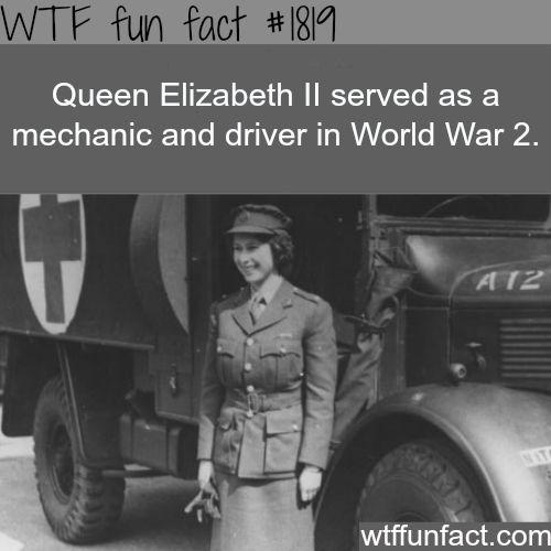 Queen Elizabeth ll in world war 2 -WTF fun facts