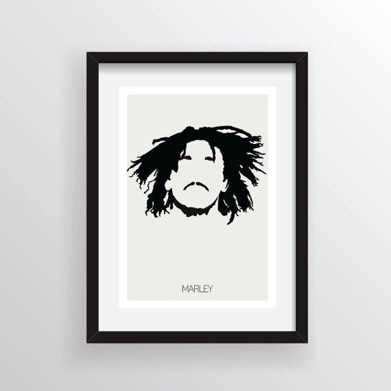 Bob Marley Nesta Robert  minimes A4 Digital Art par Posteritty, £8.00