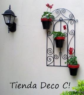 Tienda DecoCactus cactus crasas suculentas macetas de cemento cerámica banquetas romanas: Porta macetas estilo colonial