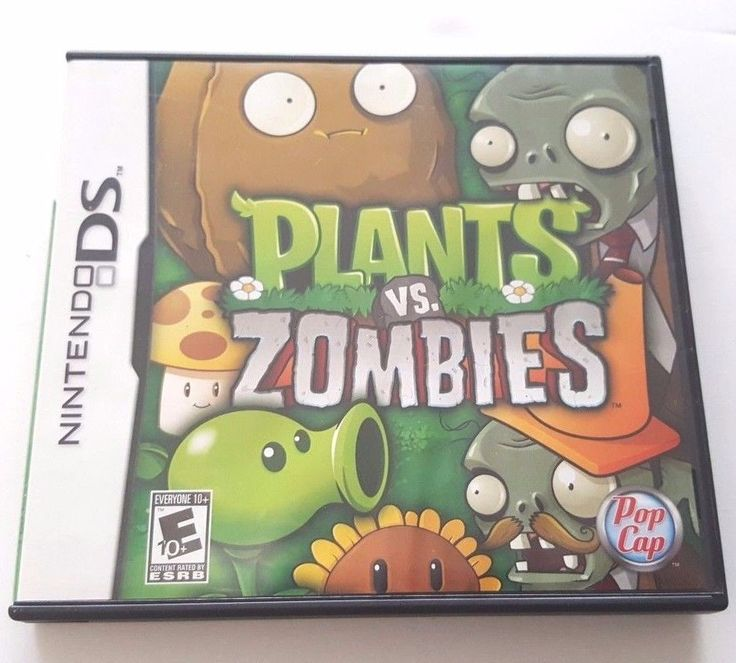 Nintendo DS Dsi Dsl 3Ds Complete Game PLANTS vs. ZOMBIES 40 Plants 26 Zombies