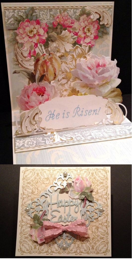 Superb Card With Gold Foil And Floral Anna Griffin Papers