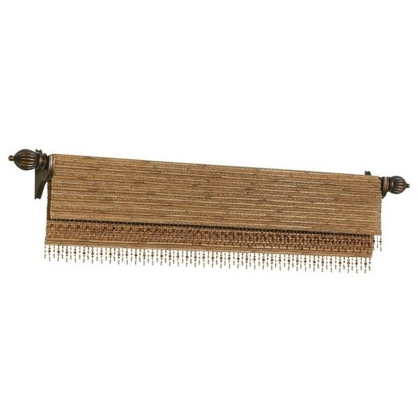 Woven Wood Valances Eclectic Curtains Other Metro