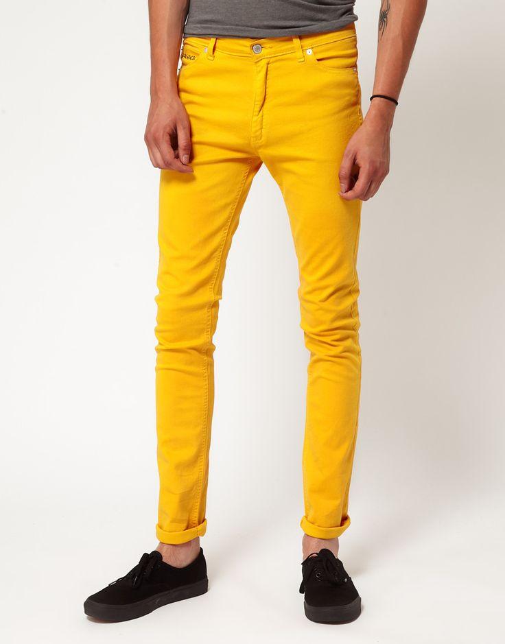 Мужские зимние узкие джинсы 2014-2015