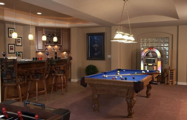 Architecture:Appealing Basement Finishing Ideas With Pendant Lighting And Billiards Also Kitchen Bar And Bar Stools With Pendant Lights Plus Home Mini Bar Furniture Along With Laminate Wooden Floor The Coolest Basement Finishing Ideas for Your On – going Remodeling Basement
