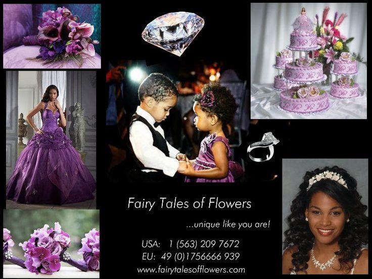 Wedding Purple and Diamond Theme  Lila und Diamanten Themen Hochzeit