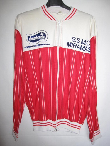 Maillot cycliste vintage SSMC Miramas Chambourcy - M