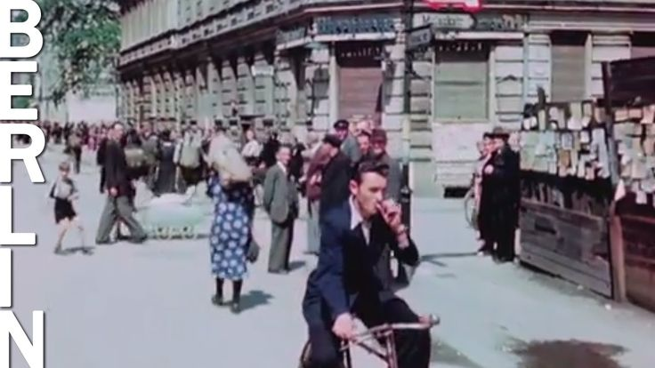 That's how it looked like just after the German surrender! Fascinating moving pictures in color show the situation of the city in summer 1945 and daily life ...