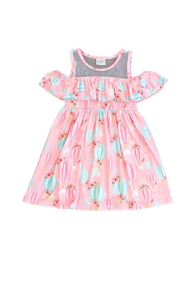 7cc5c7dbdd9e SUMMER CLEARANCE Pink Hot Air Balloon Boutique Dress 12-18m 2 3 4 5 ...