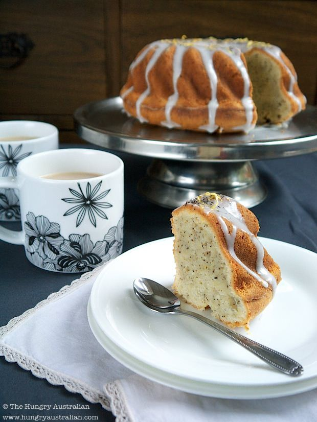 Lady Grey Bundt Cake with Rosewater Icing