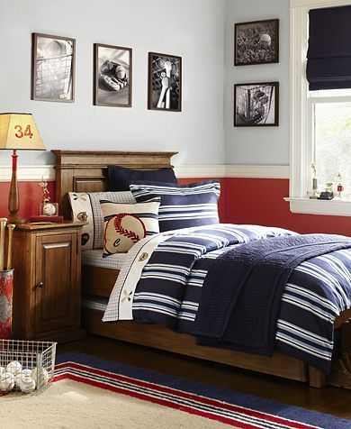 Best Boy Rooms {Neutral and Classy}- simple baseball... B could grow with this room.