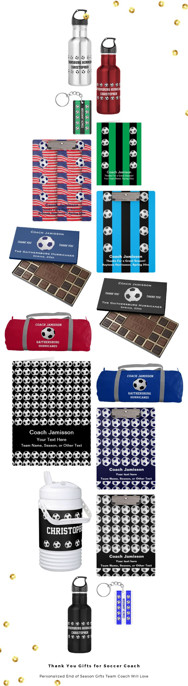 Unique Personalized Thank You Gifts for Soccer Coach