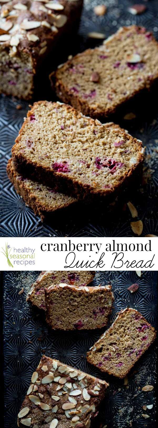 cranberry almond quick bread