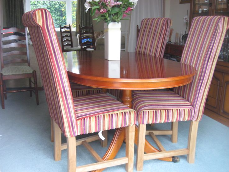 Classic English Design Kensington Dining Chair Covered With Funky Colourful Jupiter Fabric Customers