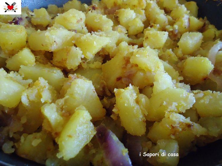 Patate e cipolle rosse speziate - contorno cucina indiana