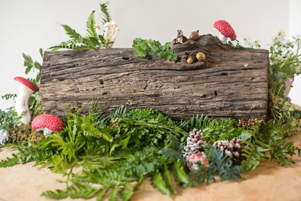 Celebrate the season with a yule log centerpiece gt http