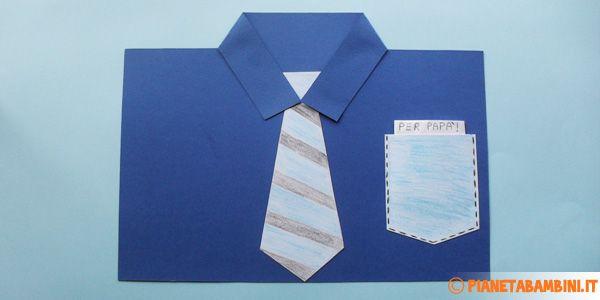 Come creare una camicia con il cartoncino per la festa del papà