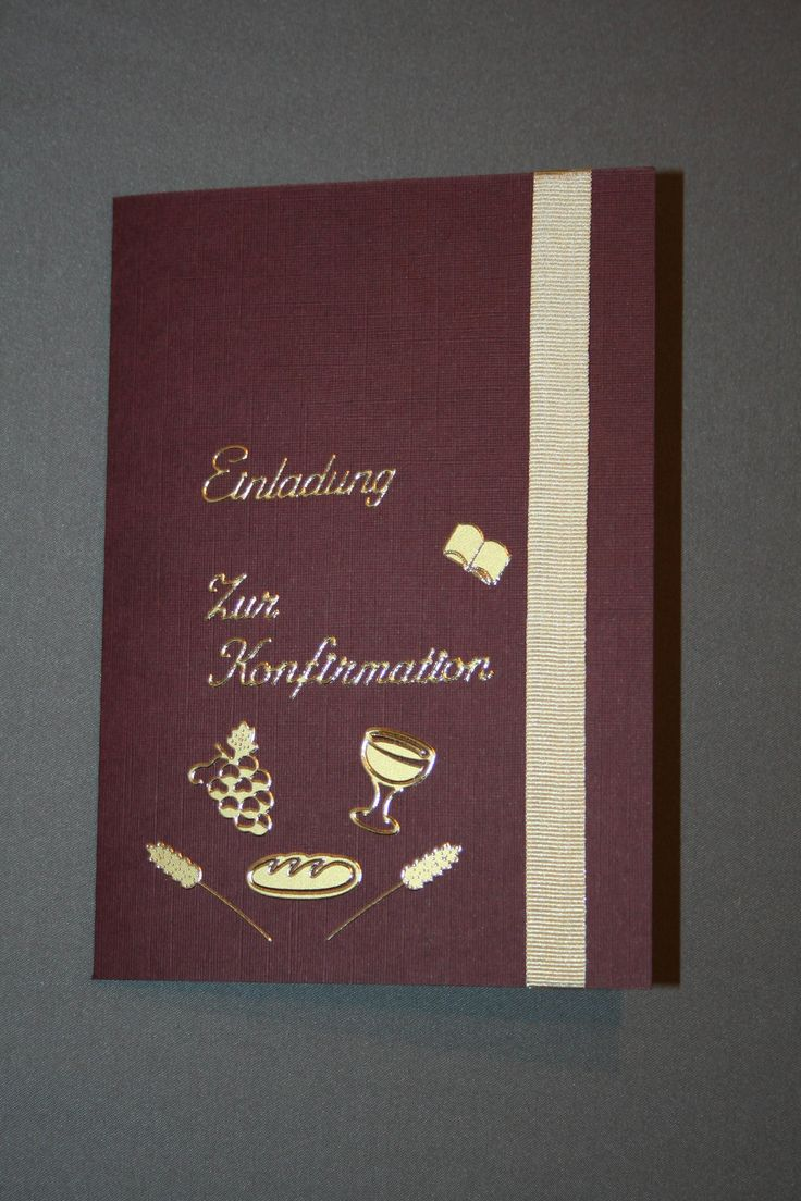 Einladungskarten Zur Konfirmation Selber Basteln