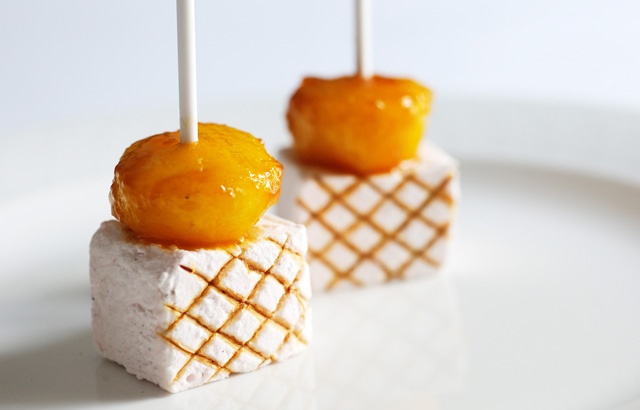 Toffee apple and marshmallow kebabs - cutest petit fours EVER!!!!