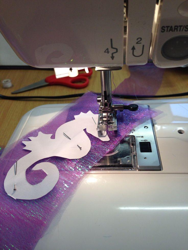 Stitching seahorses