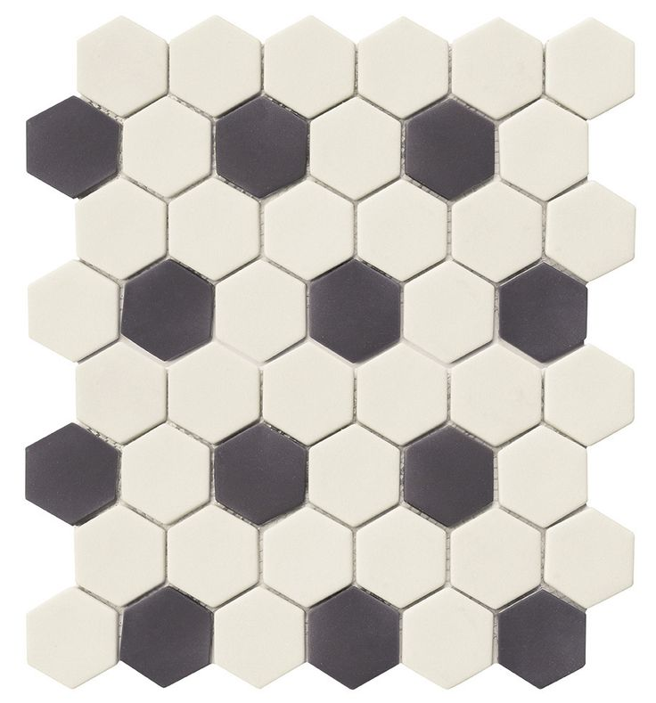 Recycled Hexagon Glass Tile Black White Is An Eco Friendly Product For Kitchen Backsplash