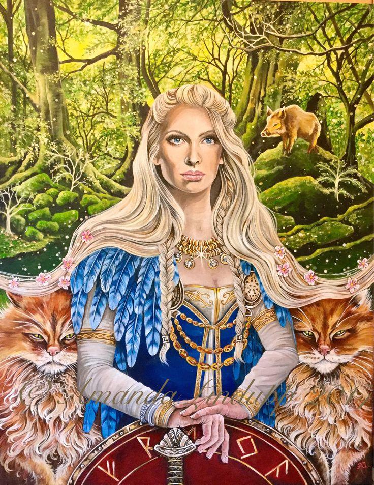 Фото и рисунки богини фрейи