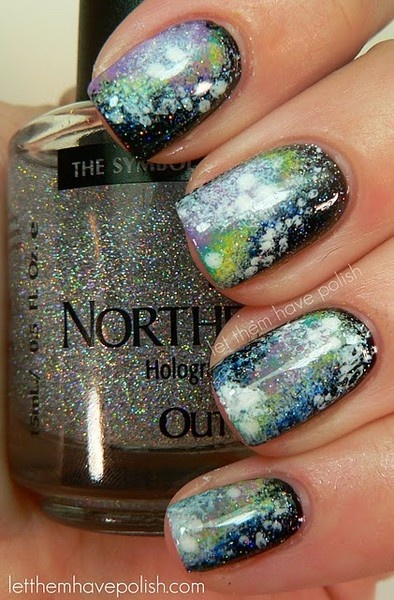 northern lights hologram polish: Nail Polish, Nailart, Style, Northern Lights, Nail Design, Light Nails, Galaxy Nails, Nail Art