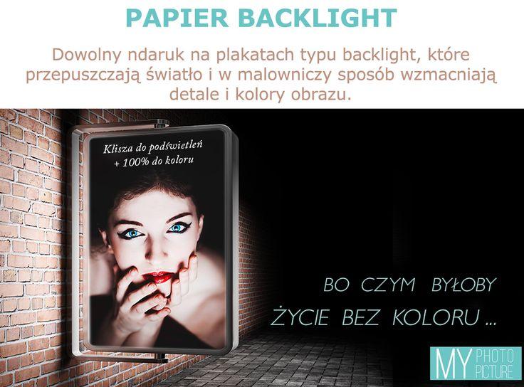 #Papier #backlight to element #dekoracyjny, jaki pozwoli wyeksponować dowolnie wybrane #fotografie i #grafiki :) Można go stosować jako #dekor uzupełniający #aranżację #wnętrza lub jako nośnik #reklamy do wnętrza firmy.