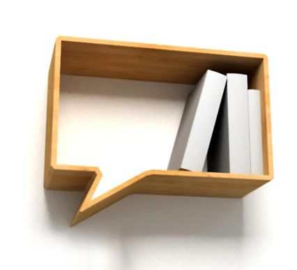 conversation book shelf
