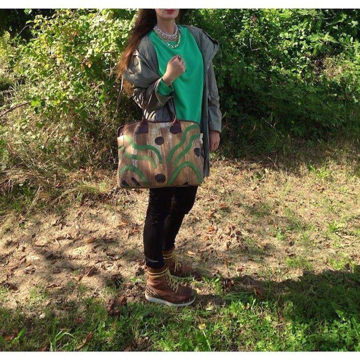 #Altoitaliano, bags Borse D' Arte, #outfit #colori #autunno #abstractgraphics #nature #colors #brand #ethical #moda #etica #arte #astratta #borse #canvas #fashionblogger #negozi #riccione #green #parka #bags #art #arty #fashionblogg #style #fall #accessories #madeinitaly