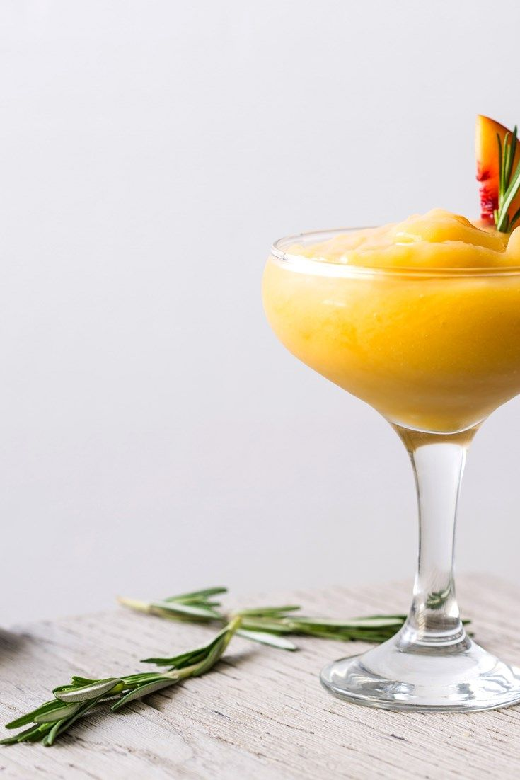 This quick and easy frozen peach margarita recipe makes a delightfully refreshing summer cocktail.