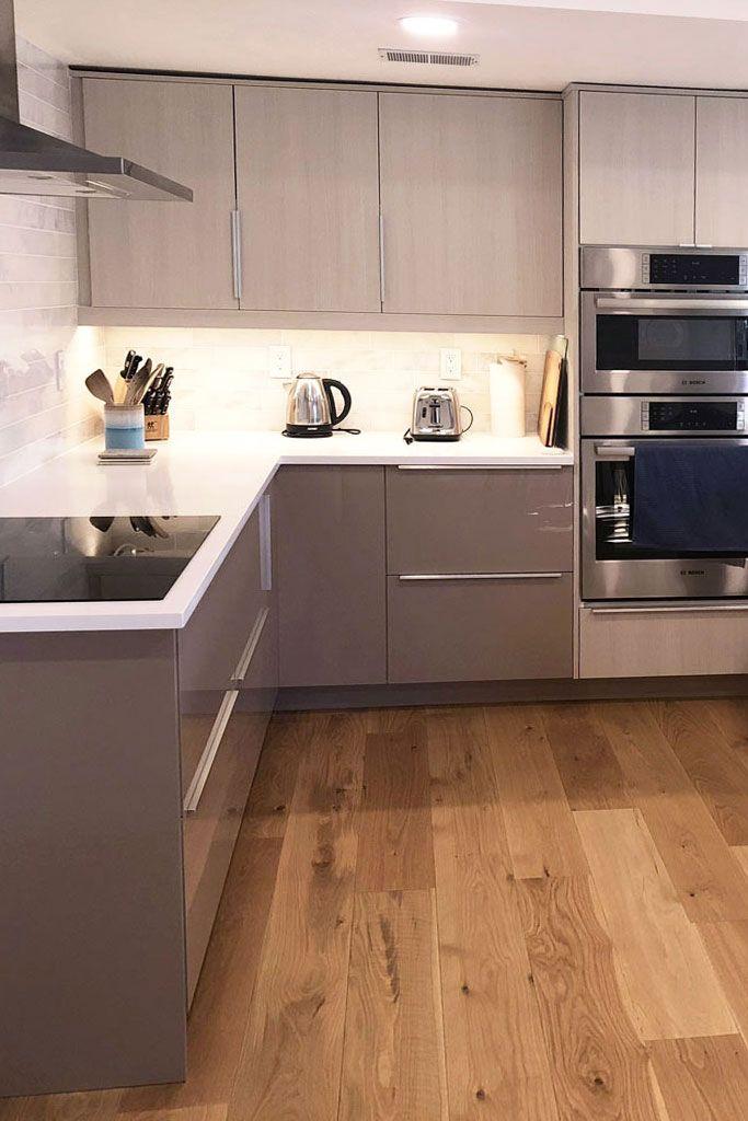 Flat Panel Aspen Textured Melamine And High Gloss Beige Acrylic Kitchen Cabinet Design Ikea Cabinets Ikea