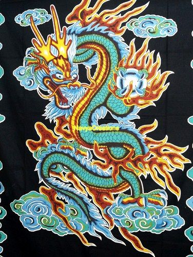 Indian Wall Hanging Chinese Dragon Hippie Hippy Tapestry Wall Dorm Decor Ethnic .