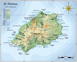 Map of Saint Helena