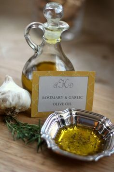 Rosemary and Garlic Infused Olive Oil