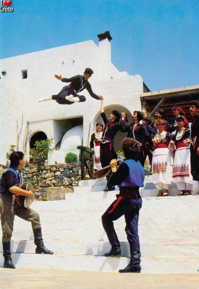 Greek Dancing in Crete, Greece
